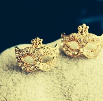 jewels crystal masquerade masquerade mask earrings earrings stud earrings masquerade mask crystal