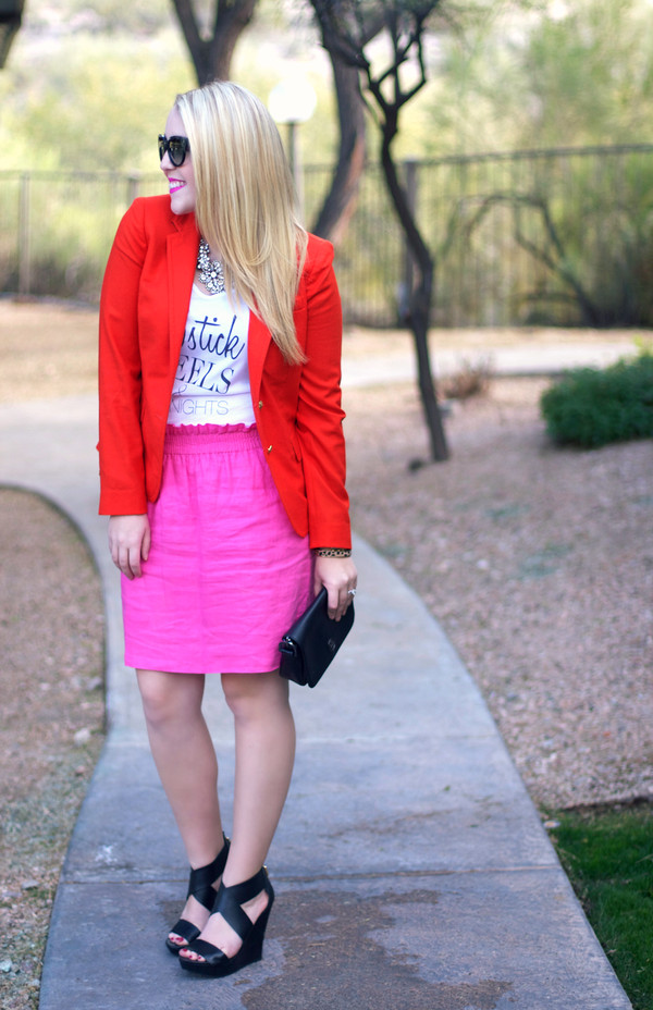a beautiful heart jacket skirt shoes sunglasses jewels bag t-shirt