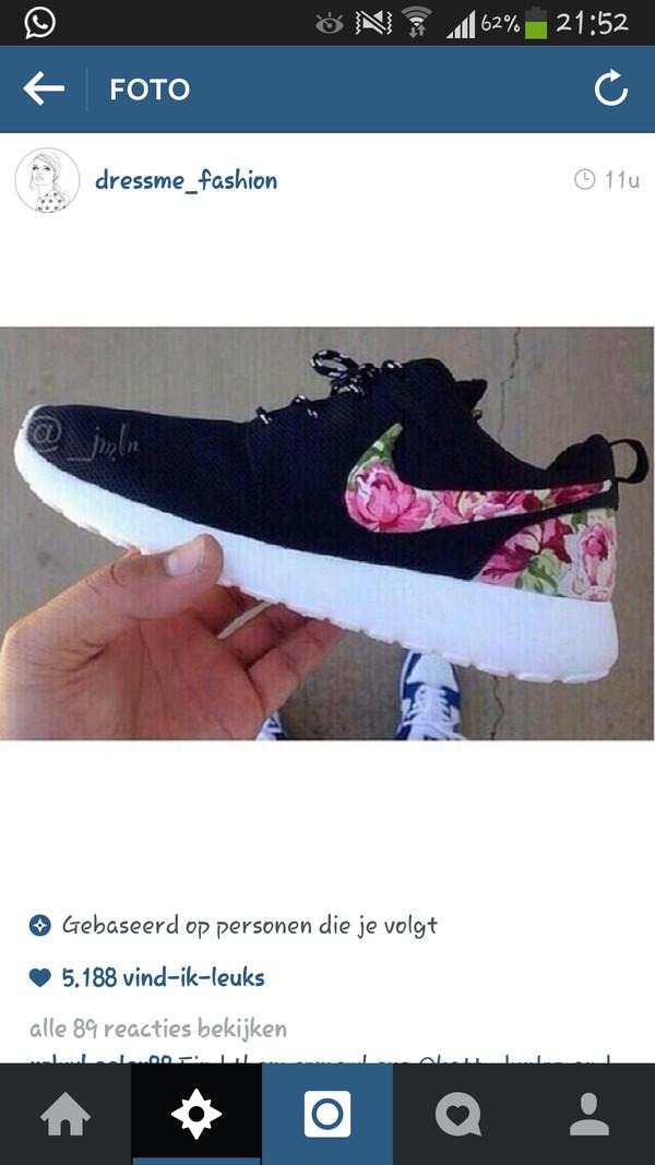 shoes nike running shoes floral black black trainers white trainers running shoes fitness sports shoes blue nike