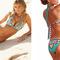 Sexy women bikini set floral beach swimwear bra swimsuit bathing suit blue | ebay