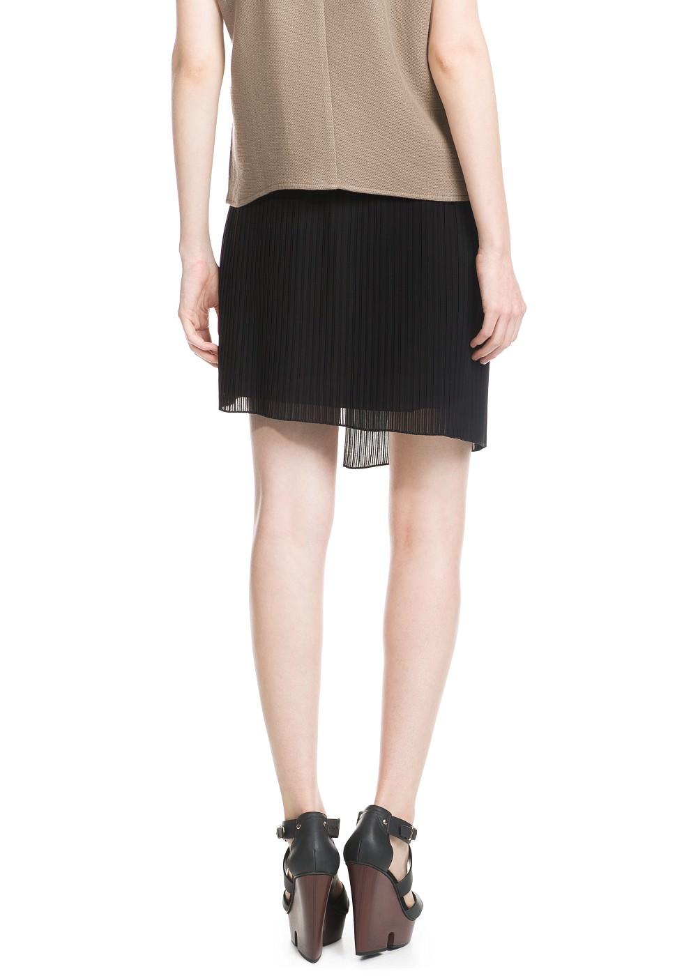 Pleated wrap skirt -    Women - MANGO