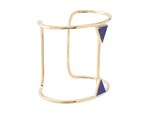Elizabeth and James Metropolis Double Triangle Cuff With Lapis Gold/Lapis - Zappos Couture
