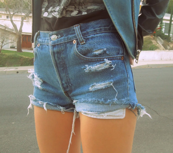 The 'Miami' High Waisted Denim Shorts - Nerdy Youth