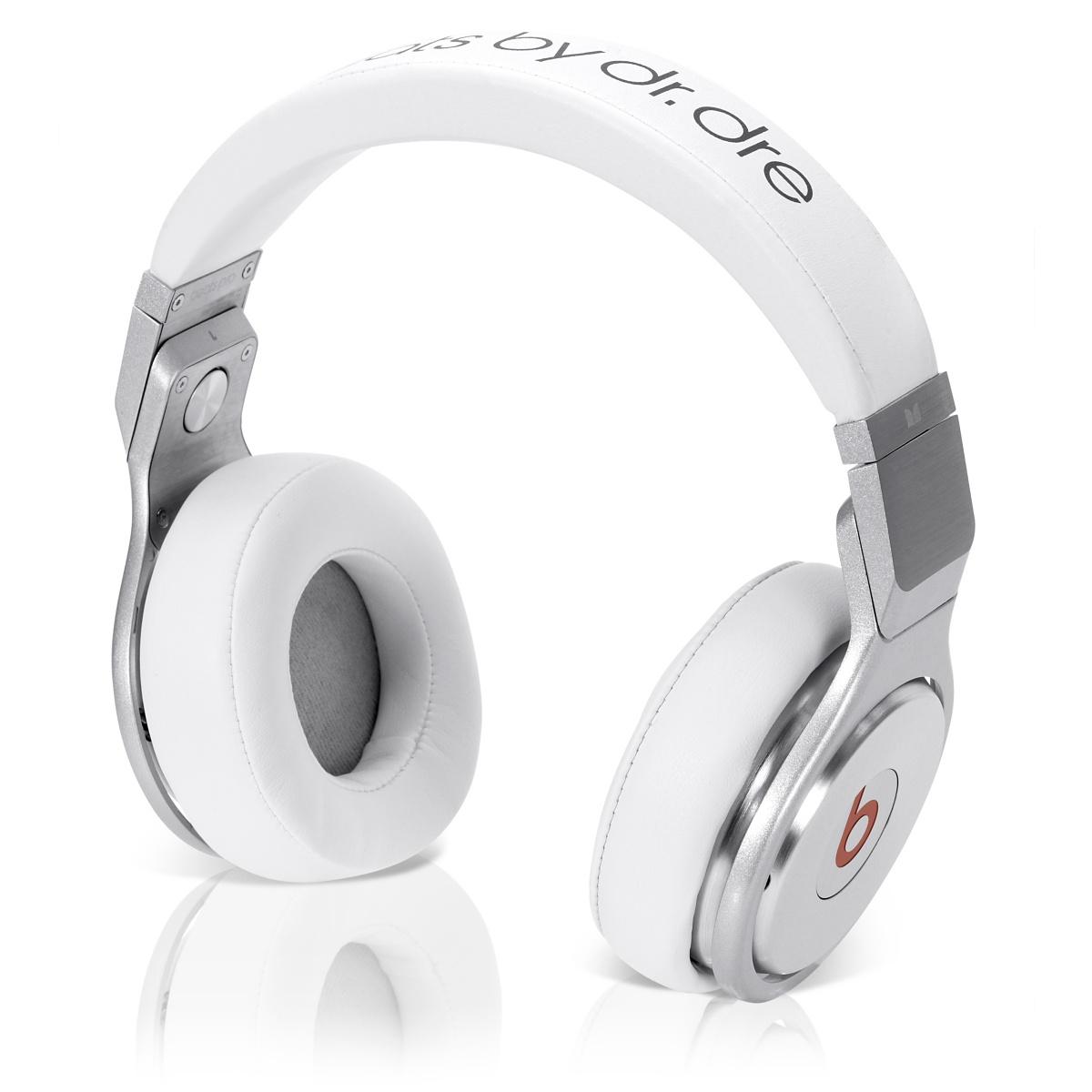 Beats By Dr.Dre Pro Headphones - White, Cheap Beats by Dre UK Headphones Sale