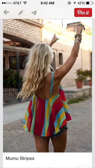 top clothes girly colorful patterns shirt blouse