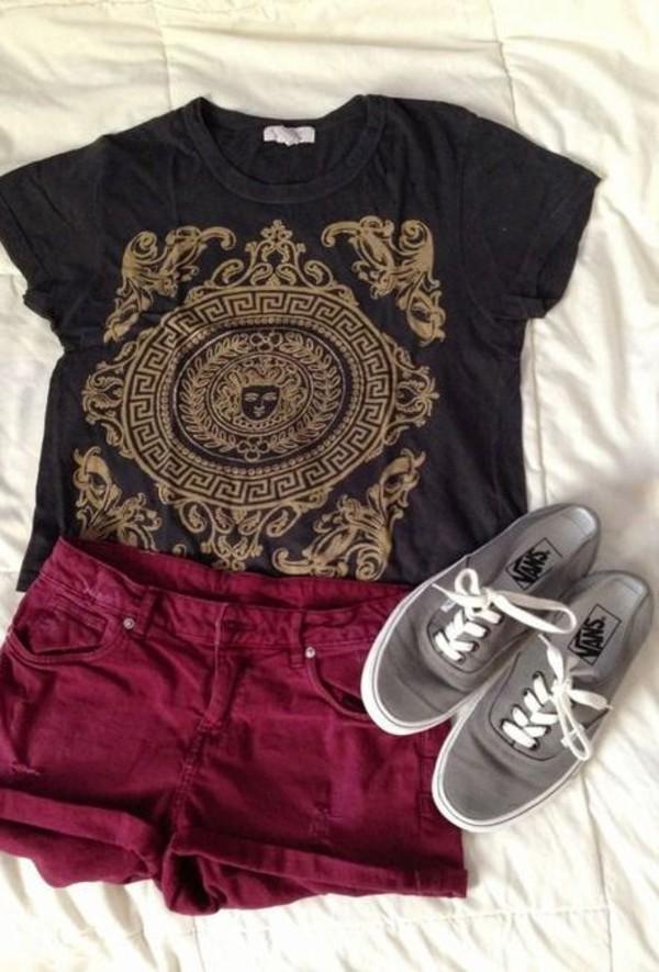 shirt t-shirt shorts shoes