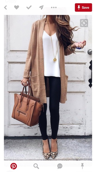 bag brown leather bag pants