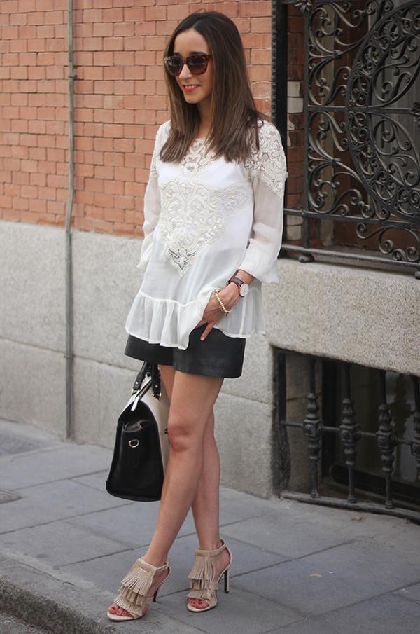 besugarandspice blouse shorts shoes jewels bag