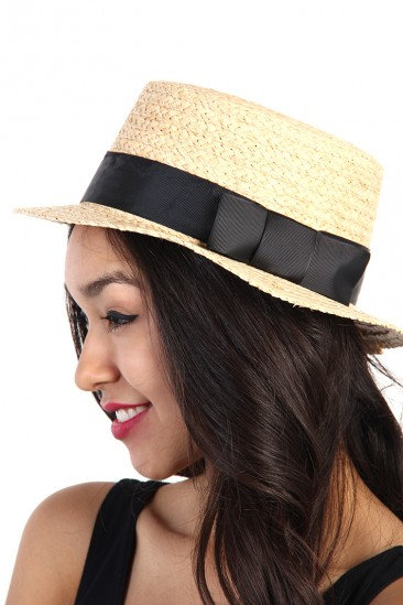 LoveMelrose.com From Harry & Molly | Straw Fedora Hat