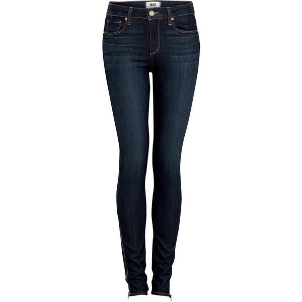 Paige Denim Indigo High-rise Hoxton Ultra Skinny Jeans - Polyvore
