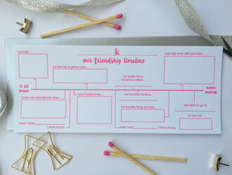 home accessory card bff pink girly stationary galentines day