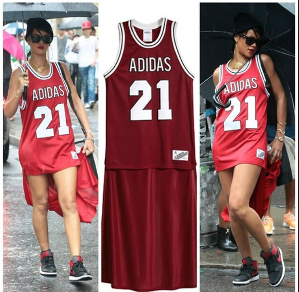 dress rihanna jeremy scott adidas jeremy scott x jersey dress