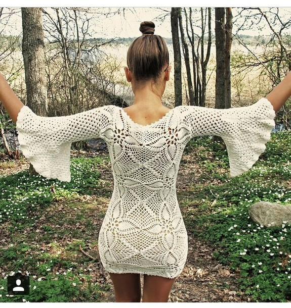 dress long sleeves long sleeve dress knitwear outfit fashion