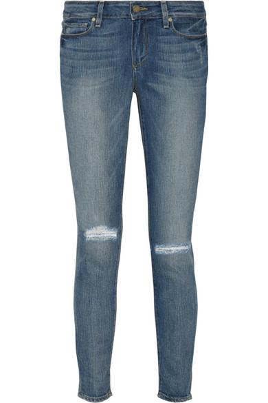 Paige|Verdugo distressed mid-rise skinny jeans |NET-A-PORTER.COM
