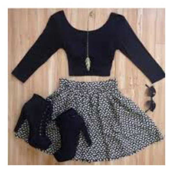 skirt top shoes