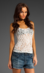 Blue Life Lace Tank Top in White | REVOLVE