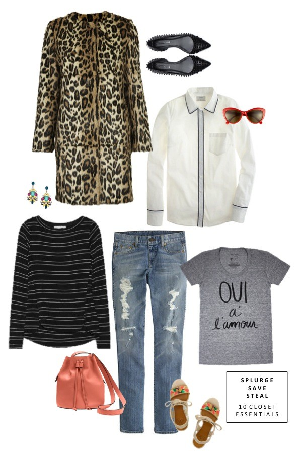sequins and stripes shirt sunglasses jewels sweater