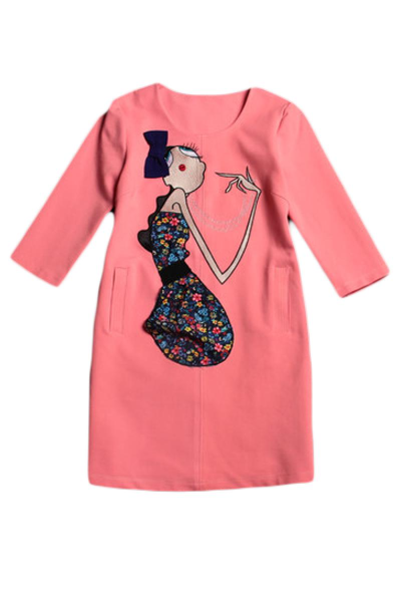 Fashion Sweetpea Embroidery Thickened Dress,Cheap in Wendybox.com