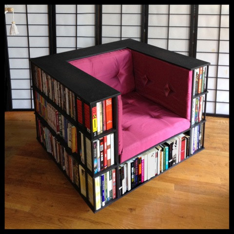Gentleman's Luxury Library Bookcase Chair  Made by TheLibraryChair
