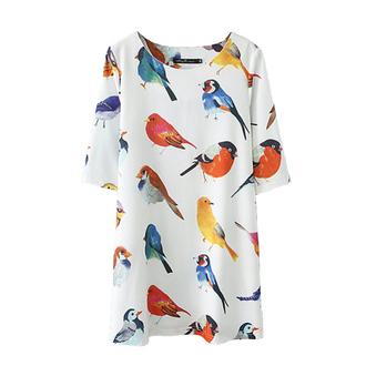 top dress tunic birds birds shirt bright spring must haves