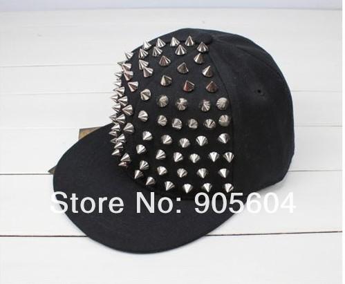 Fashion Designer Unisex Punk Boy Girl Rivets Spike Spiky Canvas Hip hop Hat Baseball Caps Sun Hat-in Apparel & Accessories on Aliexpress.com