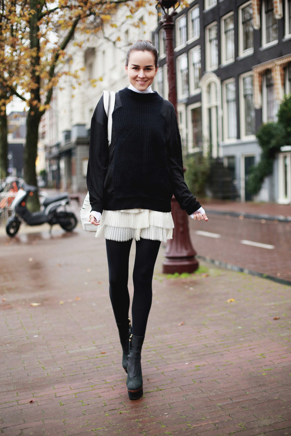 style scrapbook sweater skirt shoes bag