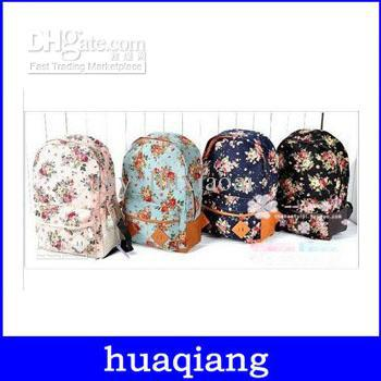 8034 free shipping A19 Women girl lady Fashion Vintage Cute Flower School Book Campus Bag Backpack-in Casual Daypacks from Luggage & Bags on Aliexpress.com