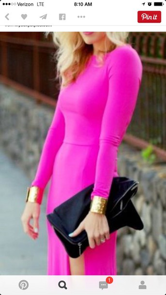dress hot pink dress