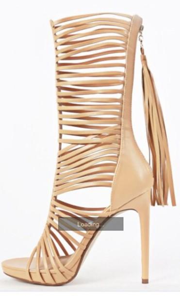 shoes gladiators tassel