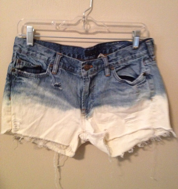 Ombre Bleached Jean Shorts by Stanzino on Etsy