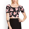 Floral scuba knit crop top | forever21 - 2000059721