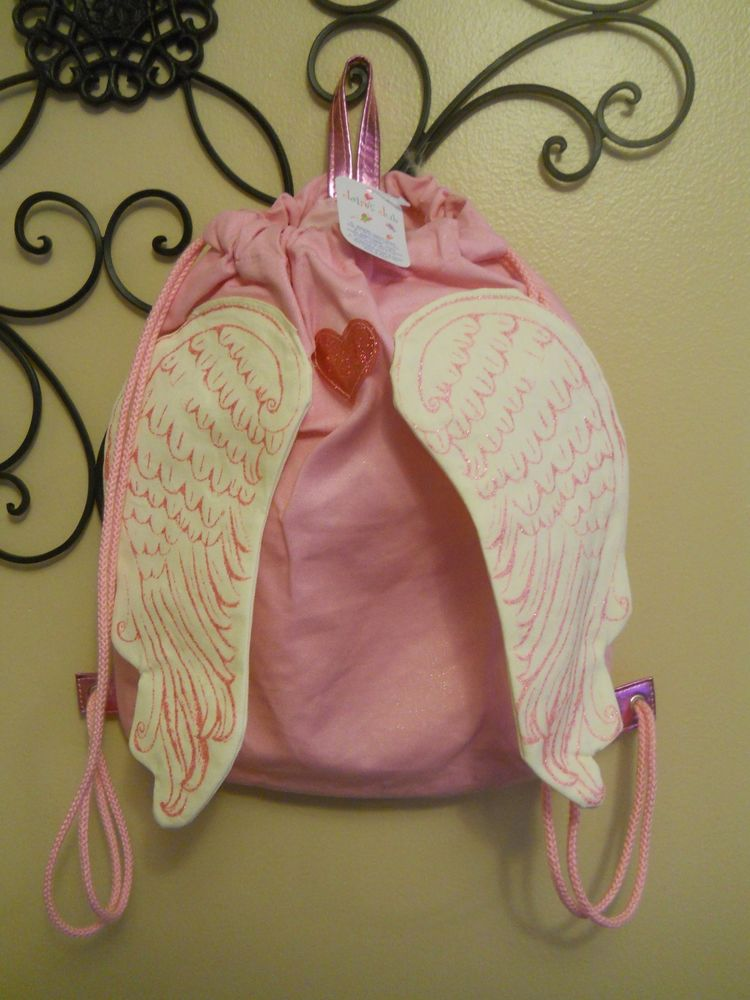 Claire's Pink Backpack with Wings BNWT   eBay
