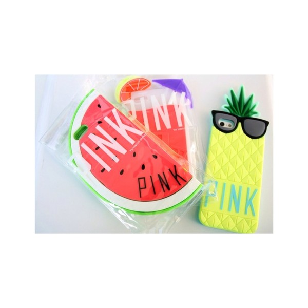jewels pineapple phone cover iphone pink watermelon print