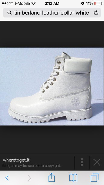 shoes white boot timberland