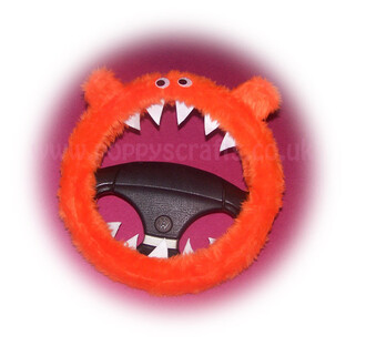 home accessory steering wheel cover monster cover orange tangerine fluffy cute car accessories