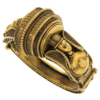 jewels victorian egyptian revival yellow gold bracelet bracelets gold egyptian victorian