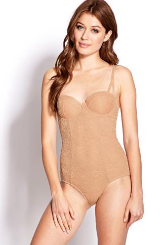Floral Lace Bodysuit | FOREVER21 - 2000071997