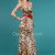 Superb Charming Strapless Cute Bow Tie Leopard Print Evening Dress