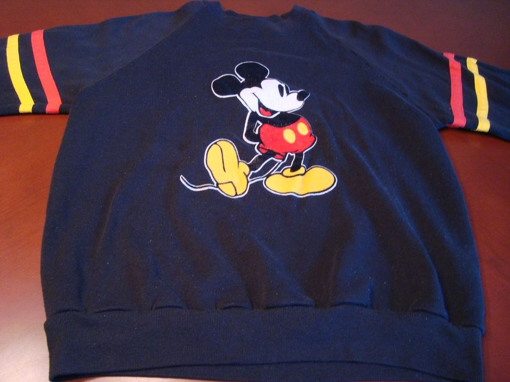 Vintage Mickey Mouse Sweatshirt Large | eBay