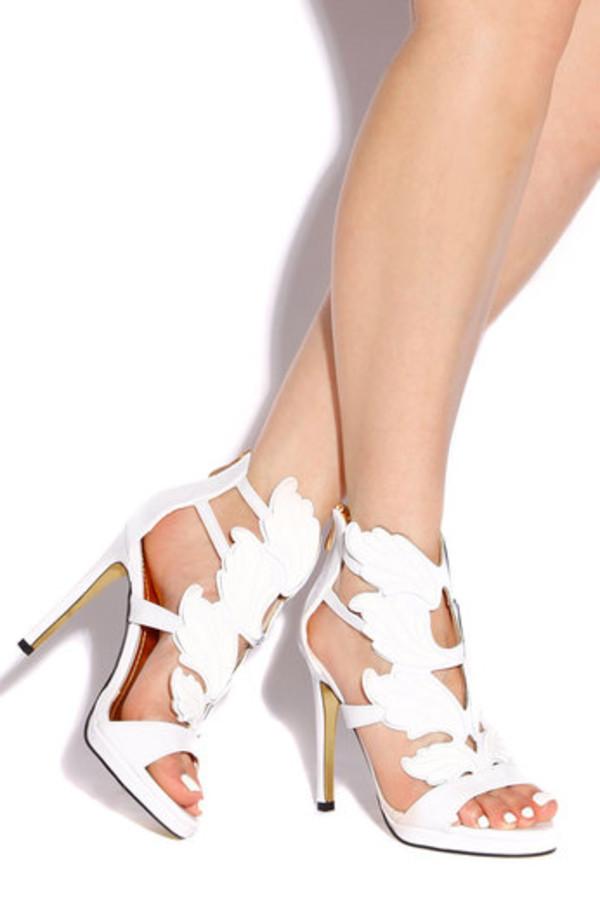 shoes wings high heels