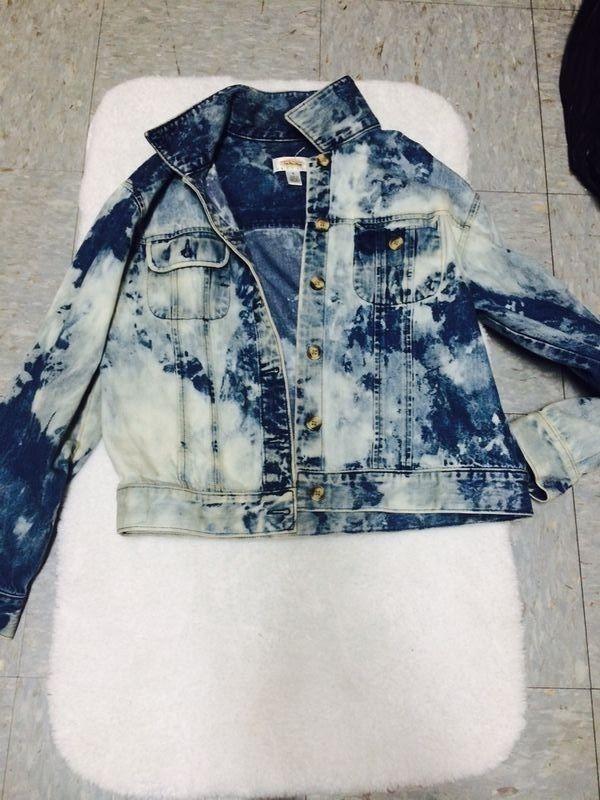 Bleached Denim Jacket   eBay