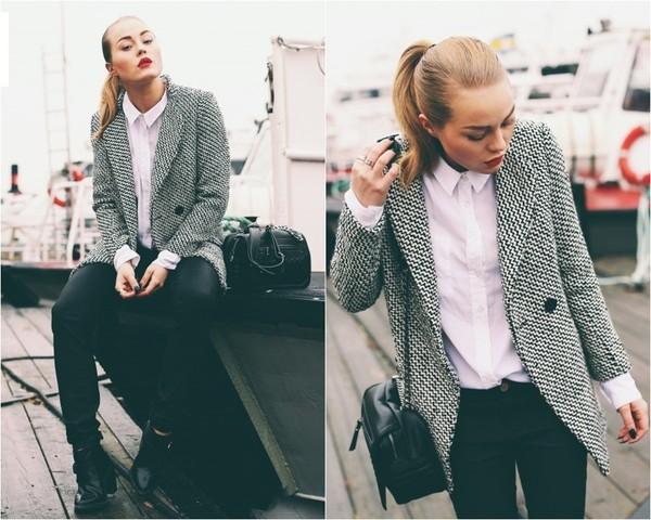 jacket blazer tweed