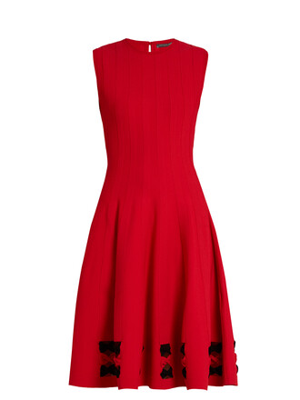 dress sleeveless red