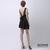 ROMWE   Cut-out Back Pleated Black Dress, The Latest Street Fashion