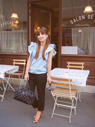 blouse valentine blue blouse