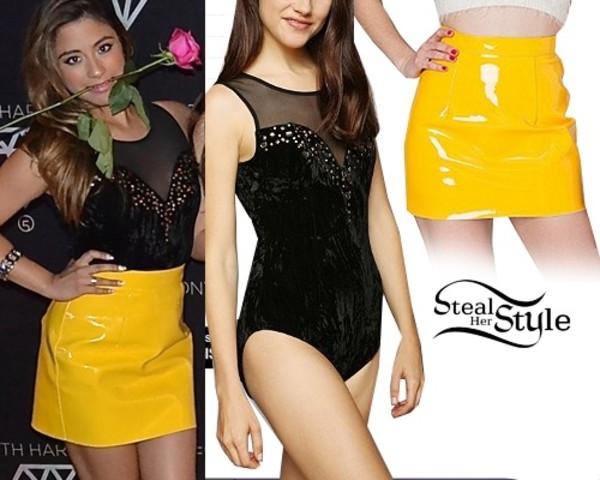 skirt Ally Brooke american apparel velvet bodysuit urban outfitters