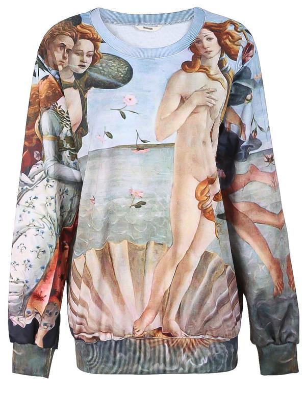 hoodie fleece painting jumpsuit