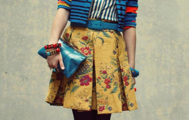 tiny toad stool yellow skirt skirt