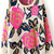 Rose Red Folwer Pattern Metallic Yoke Sweater - Sheinside.com