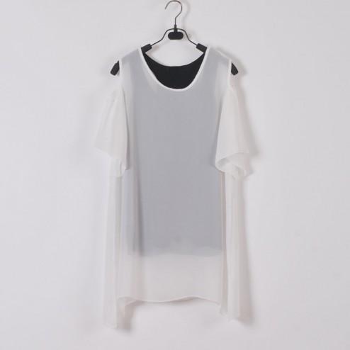 Off-the-shoulder Chiffon Tees - T-shirts & Vests - Tops - NextModal Fashion